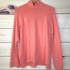 Ann Taylor High Low Mock Neck Oversized Sweater